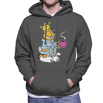 Garfield Morning Coffee & Slippers Men's Hooded Sweatshirt
