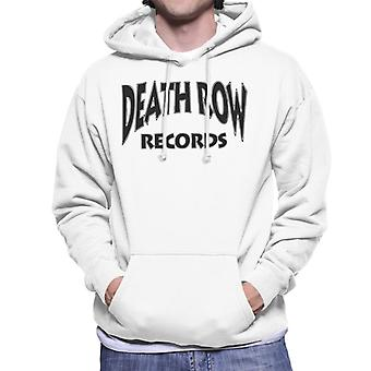 Death Row Recrods Logo Black mannen Hooded Sweatshirt