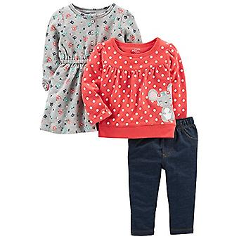 Simple Joys by Carter's Baby Girls' 3-Piece Playwear Set, Red/Grey Mouse, 12 ...