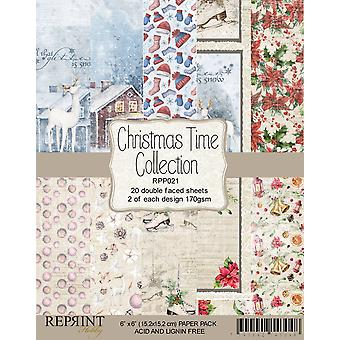 Reprint Christmas Time 6x6 Inch Paper Pack