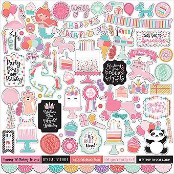 Echo Park It's Your Birthday Girl 12x12 Inch Element Sticker