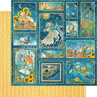 Grafik 45 Sterne ausgerichtet 12 x 12 Zoll Papier Pack