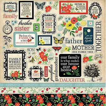 Carta Bella Our Family 12x12 Inch Element Sticker