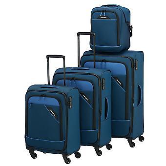 travelite Derby L Erw/M Erw/S 4 Rollen, Bordtasche, Blau