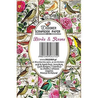 Decorer Birds & Roses Paper Pack
