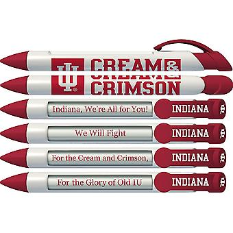 20532, Greeting Pen College Pens- Indiana Hoosiers Braggin-apos; Rights Rotating Message 6 Pen Set 20532