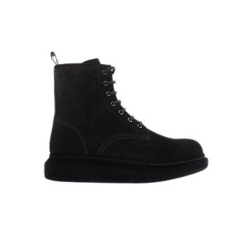 Alexander McQueen H.Boot Leath S.Rubb. New Black 625184WHXK91000 shoe