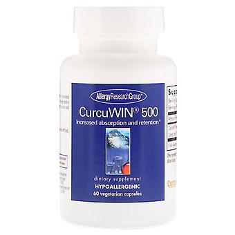 Allergie Research Group, CurcuWin 500, 60 vegetarische capsules