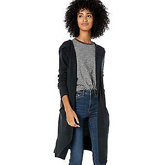 Brand - Goodthreads Women's Mid-Gauge Stretch Hooded Longline Cardigan...