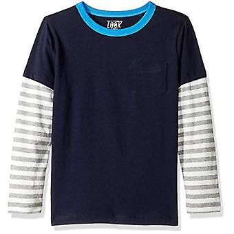 / J. Crew Brand- LOOK by Crewcuts Boys' Long Sleeve Layered Tee, Navy, ...