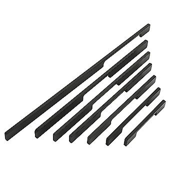 2PCS Furniture Hardware Drawer Pulls Cupboard Knob Black 96mm