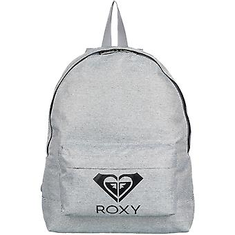Roxy Sugar Baby Solid Logo Backpack in Heritage Heather
