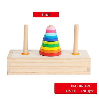 Classic Wooden Puzzle Stack Tower For Kid Mathematical Early Educational Toys