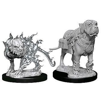 D&D Nolzur Marvelous Incadned Minis Mastif & Shadow Mastif
