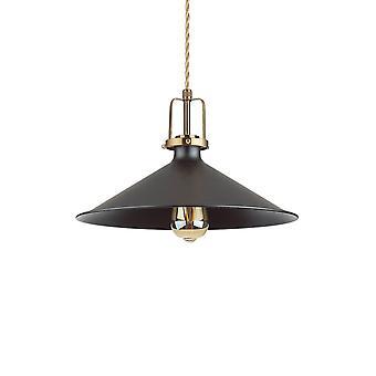 Ideale Lux ERIS-4 - Indoor Dome plafondhangerlamp 1 licht zwart, E27