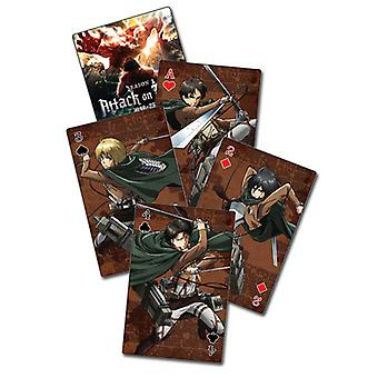 Playing Cards - Attack On Titan S2 - Group New Licensed ge51678