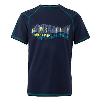 Alastor tryckt bambu T-Shirt Navy