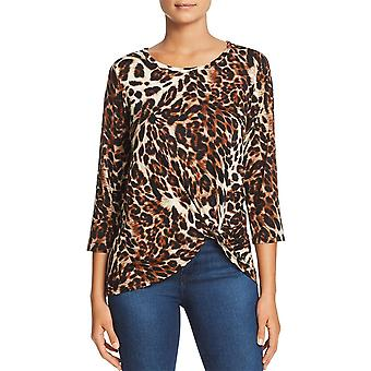A+A Collection | Leopard-Print Twist-Front Top