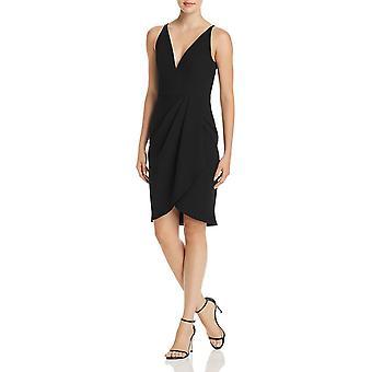 Aqua | Side-Drape V-Ausschnitt Kleid