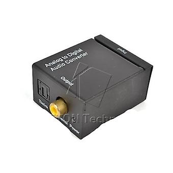 Analog To Digital Audio Converter ,amplifier Decoder Optical Coaxial Rca