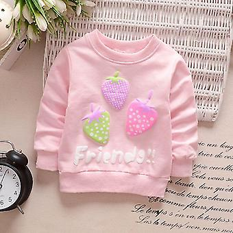Children Hoodies Sweatshirts, Boys Girls Cartoon Rabbit Strawberry Cotton