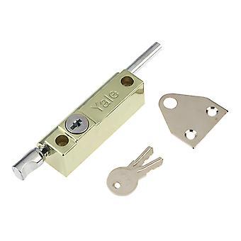 Yale Locks P124 Door Push Bolt Brass Finish Visi YALP124PB