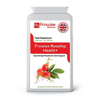 Rosehip Health 5000mg 120 Tablets | Suitable For Vegetarians & Vegans | Made In UK