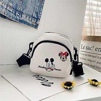Mickey Mouse Canvas Small Bag -wild Student Shoulder Mobile Phone Bag