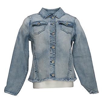 DG2 door Diane Gilman Women's Blue Denim Jacket met Pockets Cotton 724-440