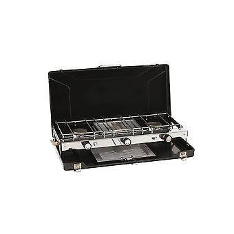 Outwell Appetizer Trio Two Burner and Grill Black