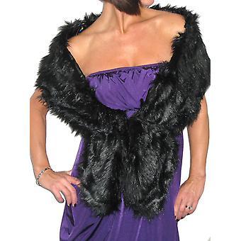 Women's Faux Fur Scarf Ladies Long Soft Winter Shawl Collar Wrap Neck Warmer