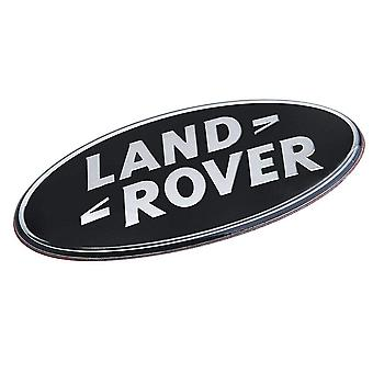 Oval Round Black Land Rover Rear Boot Badge Emblem For Evoque Discovery FreeLander 86mm x 43mm