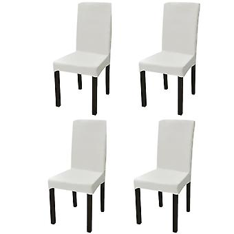 Straight Stretch Chair Cover 4 Pieces Cream