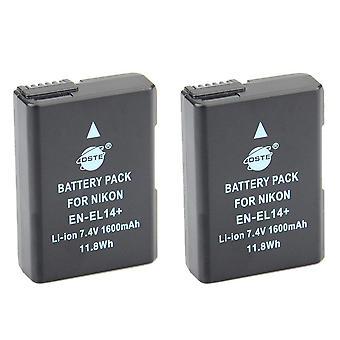 Dste 2x complet codificat en-el14 enel14 baterie li-ion pentru nikon df d3100 d3200 d3300 d3400 d5100 d5200 d5