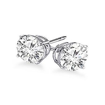 Boucles d'oreilles 14K White Gold 4-Prong Round Cut Diamond Stud 1/2 Carat