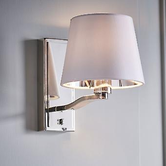 Endon Collection  Harvey Switched Wall Light In Nickel Finish