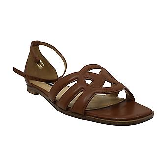 Nine West Women's Shoes Genna Leather Open Toe Casual Ankle Strap Sandals