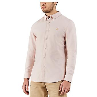 Farah Vintage Brewer Slim camisa de manga larga rosa