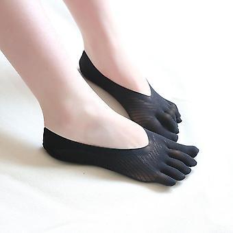 Kvinner's Mote Fem Tå Sokk Tøfler Usynlig fem Finger Sokker