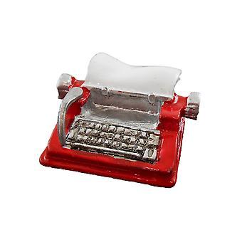 Dolls House Miniature Study Desk Accessoire Red Metal Machine à écrire