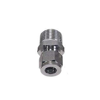 Adaptateur de conversion droite en acier, tube de tuyau de raccord Ss