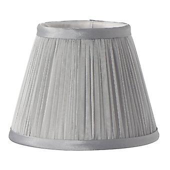Elstead Beleuchtung Clip Schattierungen Pleated grau Chiffon Kerze Schatten