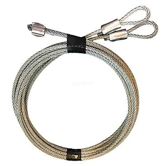 Security Garage Door Extension Cable Kit-galvanized Steel Braid, S Hooks
