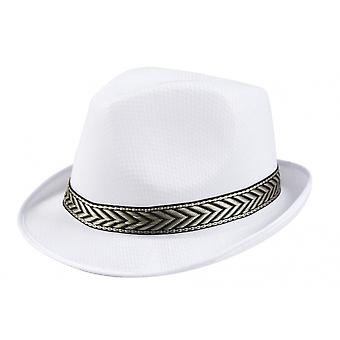 Hat Funky Unisex 58 Cm White