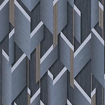 Fashion For Walls Navy Wallpaper