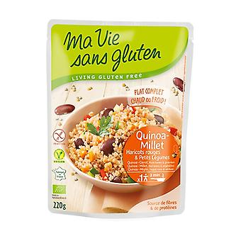 Quinoa-Millet, Red beans and organic vegetables 220 g