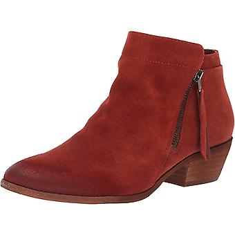Sam Edelman Women's Packer Ankle Boot, Paprika Suede