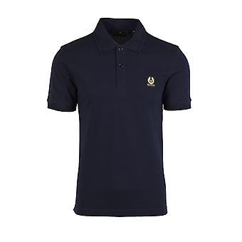 Belstaff Short Sleeve Polo Shirt Dark Ink