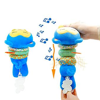 Teethers Plush Dolls Blue Monkey Doll Toy With Built-in Music Box
