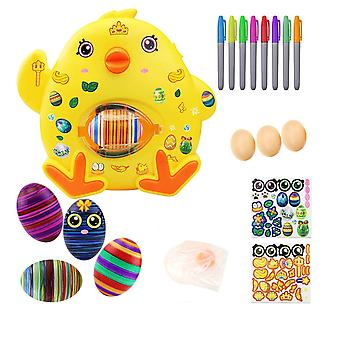 Easter Egg Decorating Kit Egg Drawing Spinners Machine 8 Dipinti 3 Uova